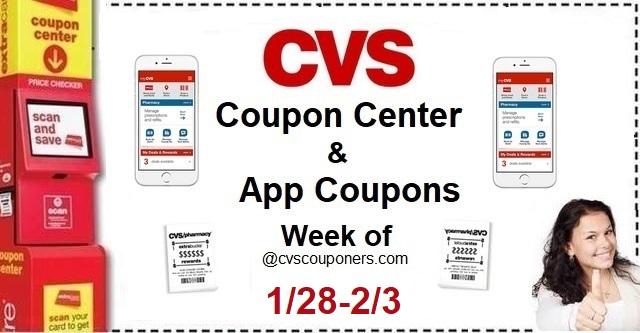 http://www.cvscouponers.com/2018/01/cvs-coupon-center-app-coupons-week-of_30.html