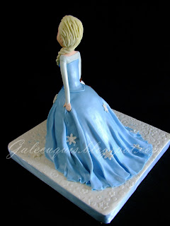 Tarta Elsa Frozen tarta vestido