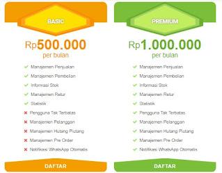 harga aplikasi kasir online oasse basic dan premium