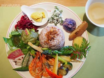 ベジ盛り野菜とシュリンプ