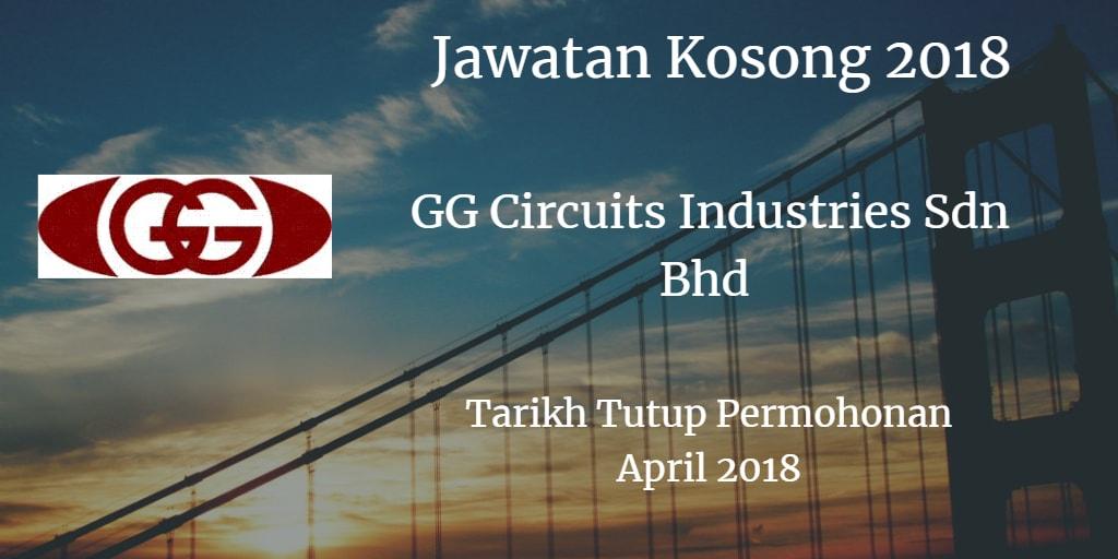 Jawatan Kosong GG CIRCUITS INDUSTRIES SDN.BHD. April 2018