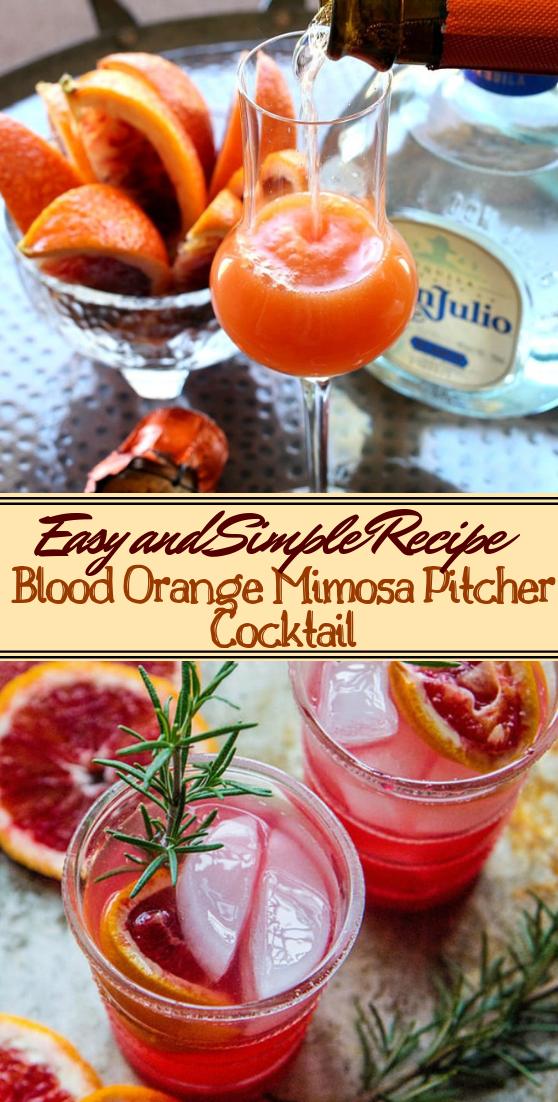 Blood Orange Mimosa Pitcher Cocktail  #healthydrink #easyrecipe #cocktail #smoothie