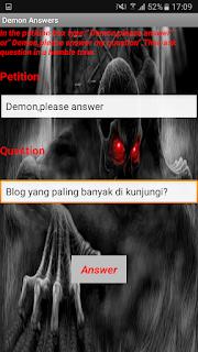 Cara Pake Aplikasi Demon Answer