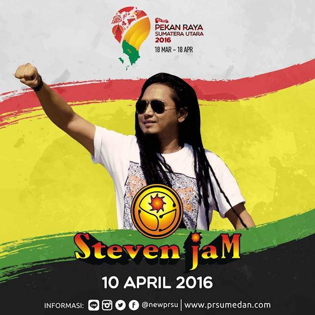 Penampilan Steven Jam - 10 April 2016 di Pekan Raya Sumatera Utara
