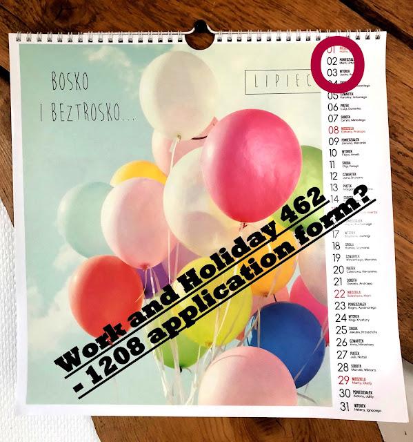 Kalendarz - lipiec - rozpoczęcie przyjmowania wniosków Zwiedzaj i Pracuj