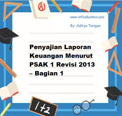 Penyajian Laporan Keuangan Menurut Psak 1 Revisi 2013 Bagian 1 Info Akuntan