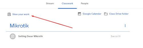 melihat tugas yang dikerjakan google classroom