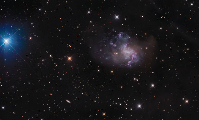 NGC 1313 - the Topsy Turvy Galaxy imaged on ATEO-3 by Franck Jobard and processed by Utkarsh Mishra.