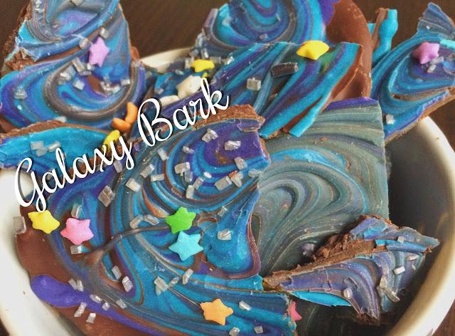 Galaxy Chocolate Bark | My Name is Sara - saradiventi.blogspot.com