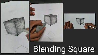 How to draw square, step by step tutorial for to draw square, square drawing on paper with pencil, easy drawing of square for square, best drawing tutorial