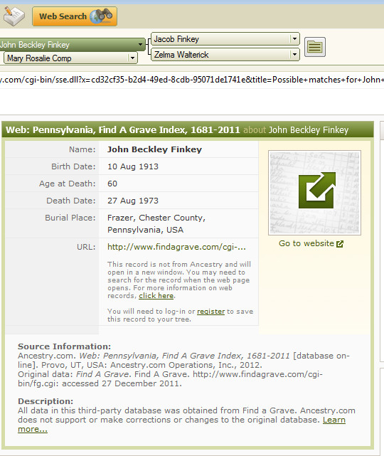 Family Tree Maker User How I work with the Burial Fact - support ancestry com