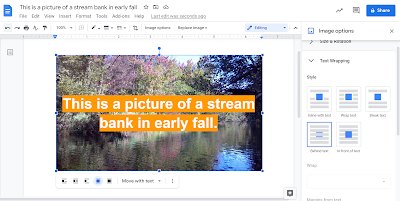 New Text Overlay Options in Google Docs