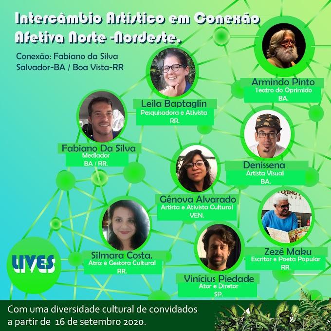 Lives reunirão artistas de Roraima e da Bahia em diálogos sobre cultura e atividade artística