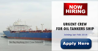 Seaman jobs hiring Cook, Electrician, 2nd Engineer For Tankers Ship