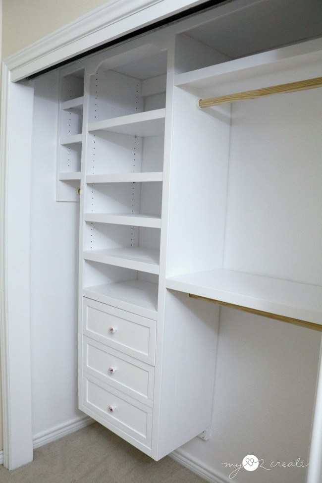 Tip 5: Caulk all wall seams in your closet.