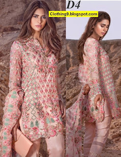 Mina Hasan Embroidered Fabric Winter 2016-2017