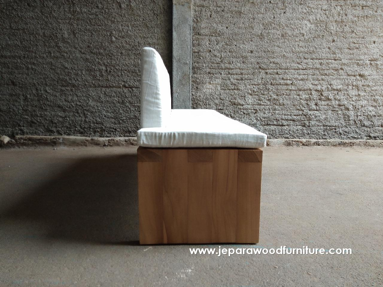 Teak Outdoor Bench Seater Construction