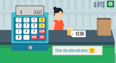 learn math with grocery store cash register game online