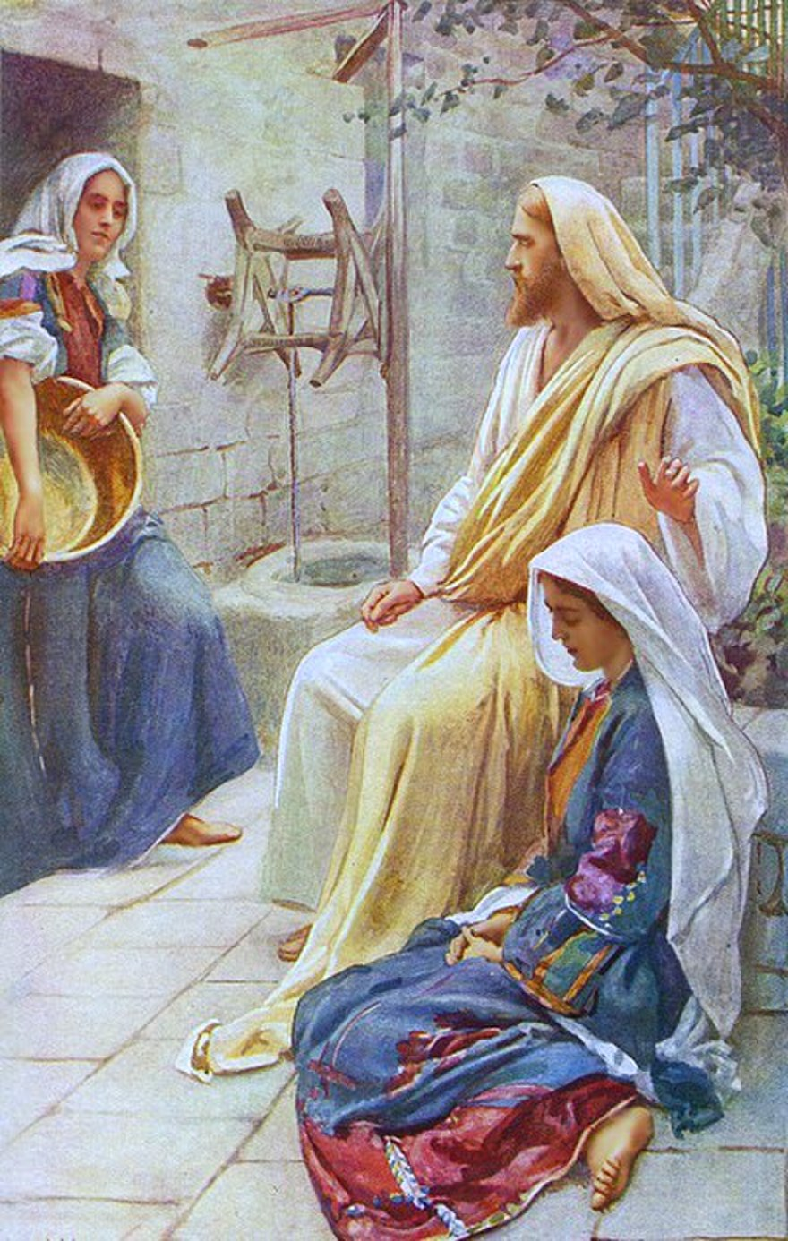The houses in New Testament times are rather small so even when preparing food, both the ladies will be able to hear Jesus.