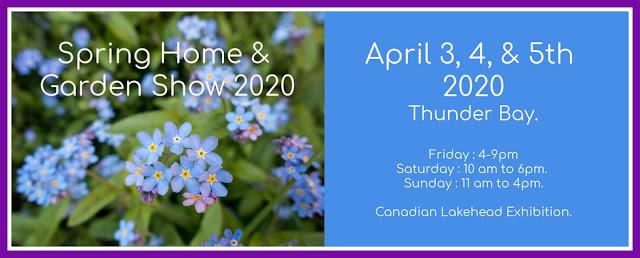 spring home and garden show poster 2020 Thunder Bay