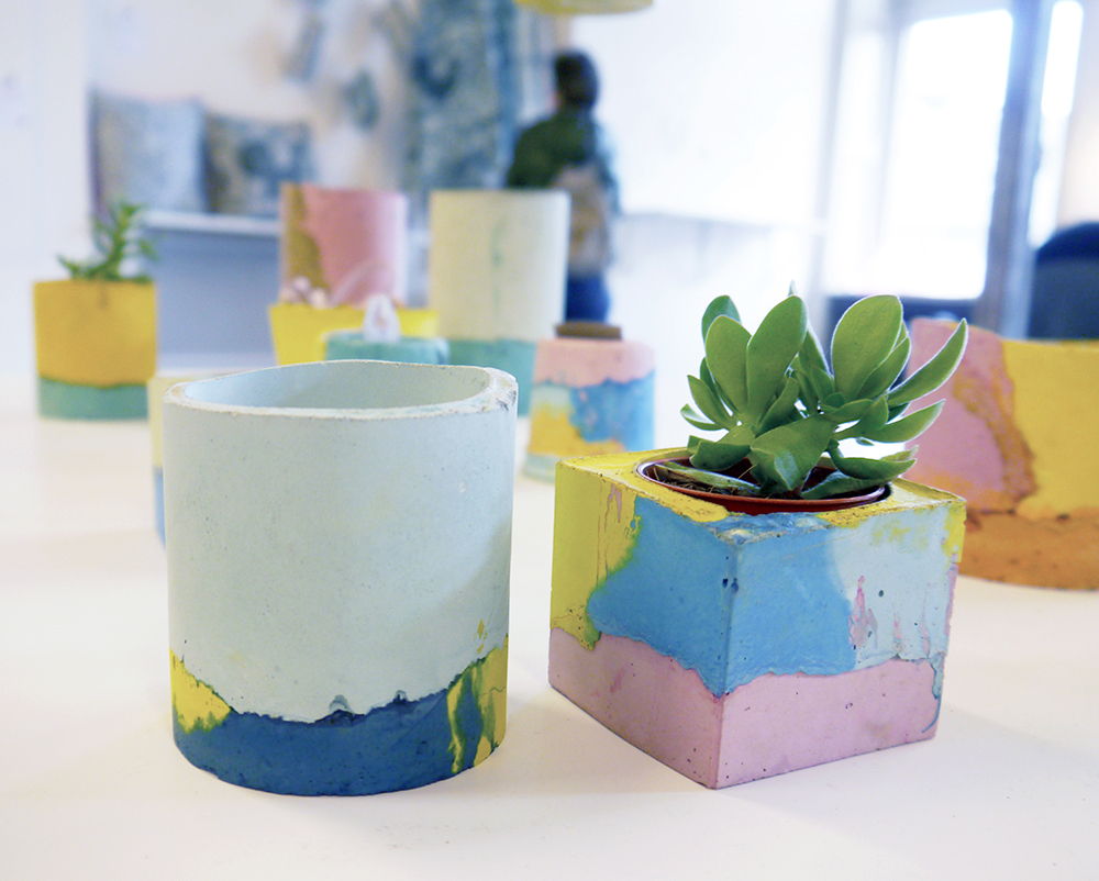 #Ed SummerShow, Craft Scotland Summer Show, Edinburgh, Whitestuff, Edinburgh Bloggers, Scottish design, Scottish homeware, Studio Emma, colourful concrete planters,