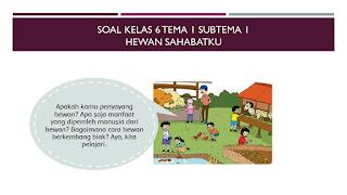 Soal Kelas 6 Tema 1 Subtema 3 Ayo Selamatkan Hewan dan Tumbuhan