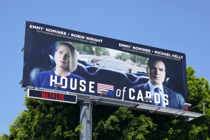 House of Cards final season Emmy nominee billboard