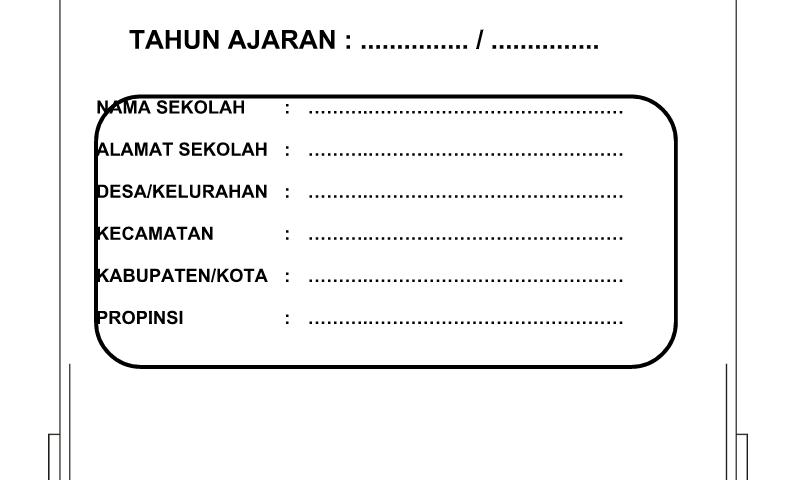 Contoh Format Bentuk Buku Tamu Umum untuk Perlengkapan Administrasi TU (Tata Usaha) Sekolah