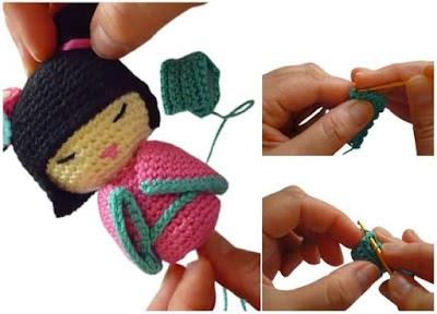 Geisha Amigurumi Muñeca crochet