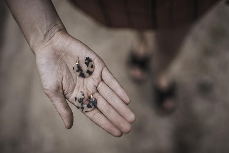 okrągłe kolczyki stradivarius