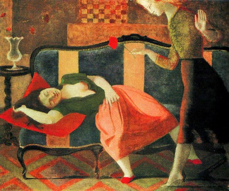 O Sonho - Balthus e sua fixação por garotas e gatos ~ Pintor francês