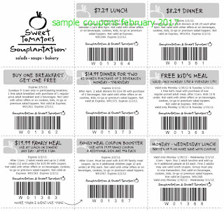 Sweet Tomatoes coupons february 2017