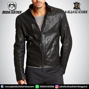 Jual Jaket Kulit Asli Garut Pria Domba Original Brida Leather B95 | WA 08813430588