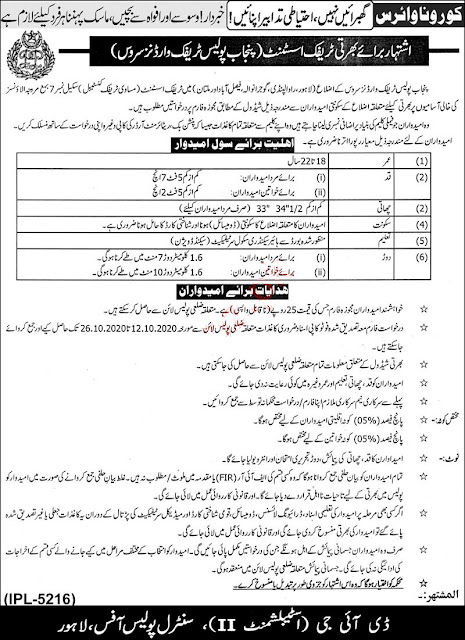 Punjab Traffic Warden Jobs 2020