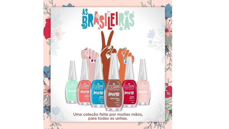 Coleção de esmaltes As Brasileiras de Colorama
