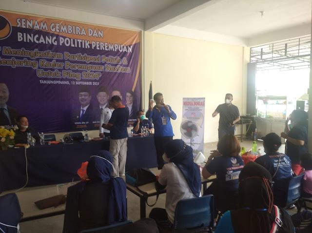 DPD Partai Nasdem Kota Tanjungpinang Siapkan Kader Perempuan Pada Pileg 2024