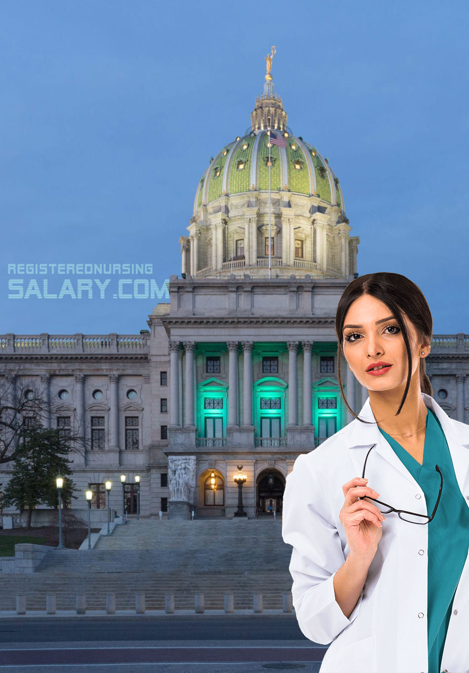 registered nurse salary in pennsylvania