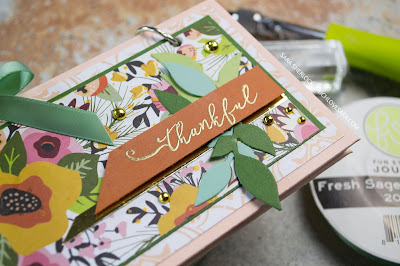 This small Gratitude Journal, will allow bullet journal style entries, to keep track of daily reasons to be thankful.  Created using Fun Stampers Journey products.