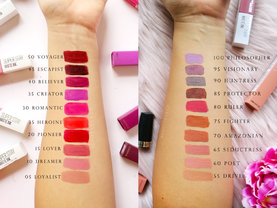 Maybelline Superstay Matte Ink Collection Review and Swatches
