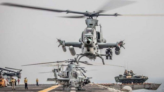 Congratulations US Marine Corps unit received its first set of new attack helicopters.