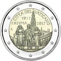 vatikaani 2 euroa kolikko fatiman ilmestys 2017