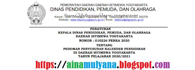 Kalender Pendidikan Provinsi Daerah Istimewa  KALENDER PENDIDIKAN PROVINSI DI YOGYAKARTA TAHUN PELAJARAN 2020/2021 UNTUK SD SMP SMA SMK