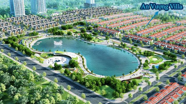 Công viên hồ bách thuỷ hợp của khu đô thị Dương Nội
