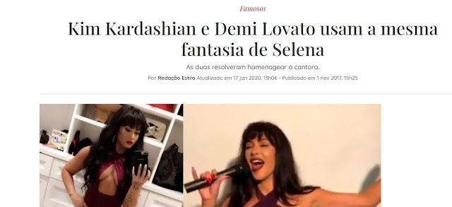 Kim Kardashian e Demi Lovato mesma fantasia