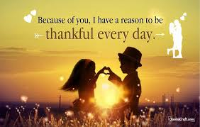 romantic thankful quotes