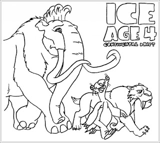 Ausmalbilder Ice Age Kostenlos