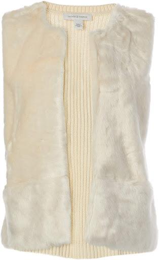 Best Quality Cream Faux Fur Vest For Women