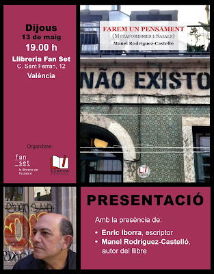 Presentació de Farem un pensament, de Manel Rodríguez-Castelló a Fanset (València, dijous 13 de maig, a les 19.00h)