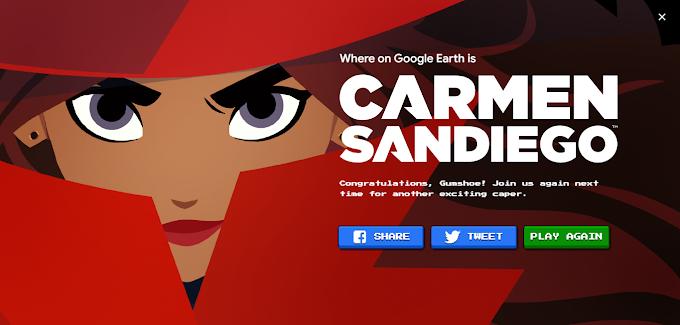 Play Carmen Sandiego Game on Google Earth