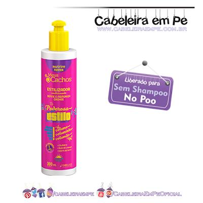 Estilizador Tô Poderosa No estilo Novex Meus Cachos - Embelleze - Liberado para No Poo